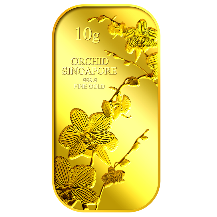 10g SG Orchid (Series 1) Gold Bar