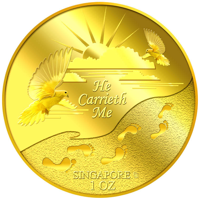 1oz He Carrieth Me Gold Medallion (5TH LAUNCH)