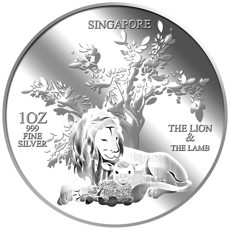 1oz The Lion and the Lamb Silver Medallion (1ST LAUNCH)