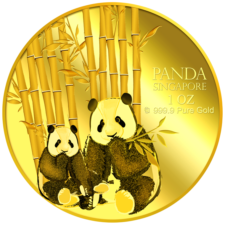 1oz SG Giant Panda (Series 1) Gold Medallion