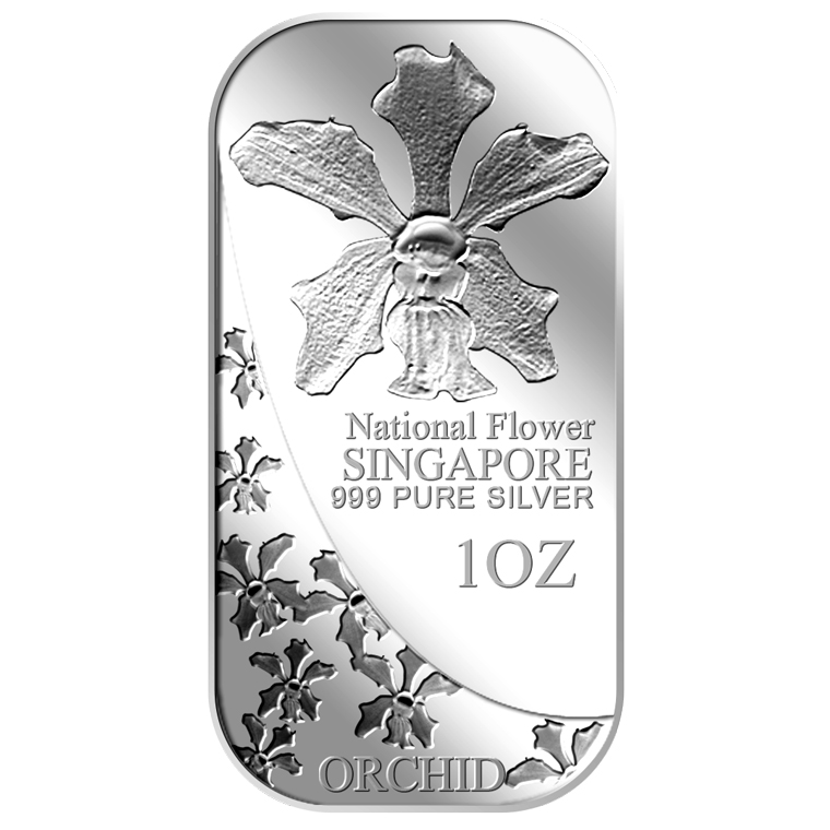 1oz SG National Flower (Series 1) Silver Bar