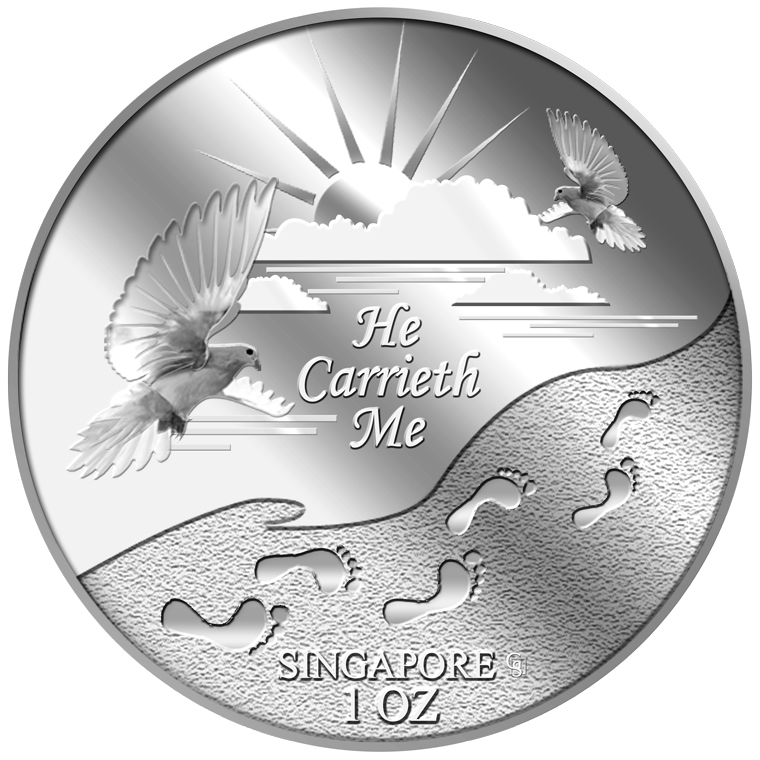 1oz He Carrieth Me Silver Medallion (5TH LAUNCH)
