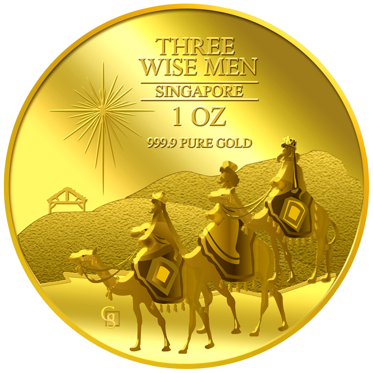 1oz The Wise Men Gold Medallion (2ND LAUNCH)
