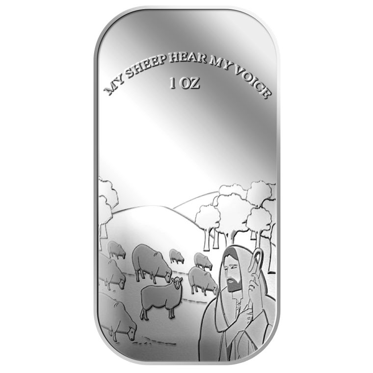 1oz My Sheep Hear My Voice Silver Bar (6TH LAUNCH)
