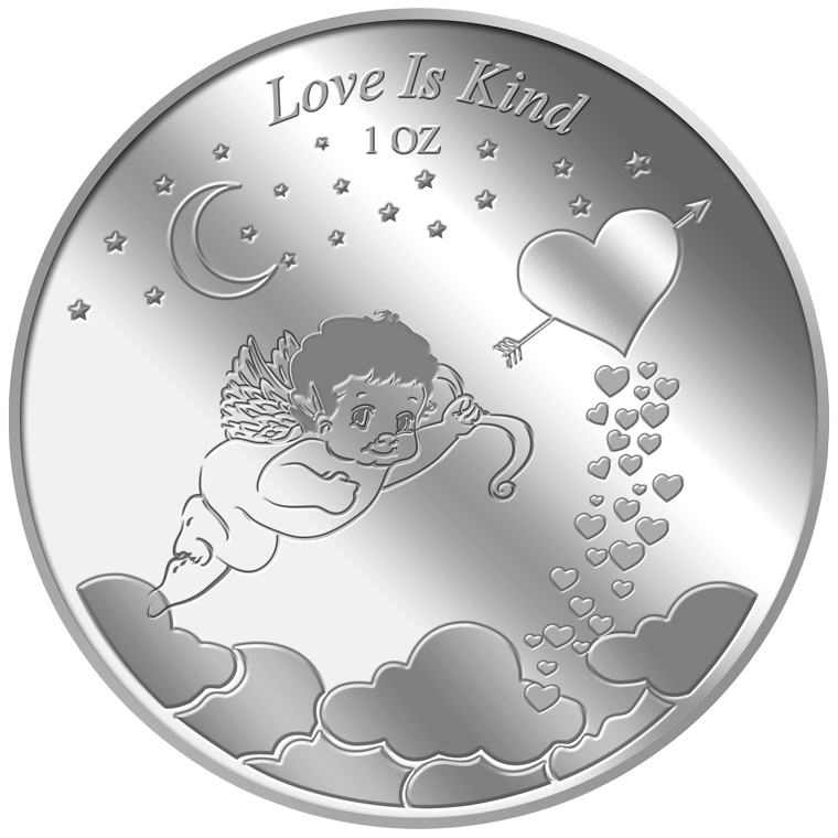 1oz Love is Kind Silver Medallion