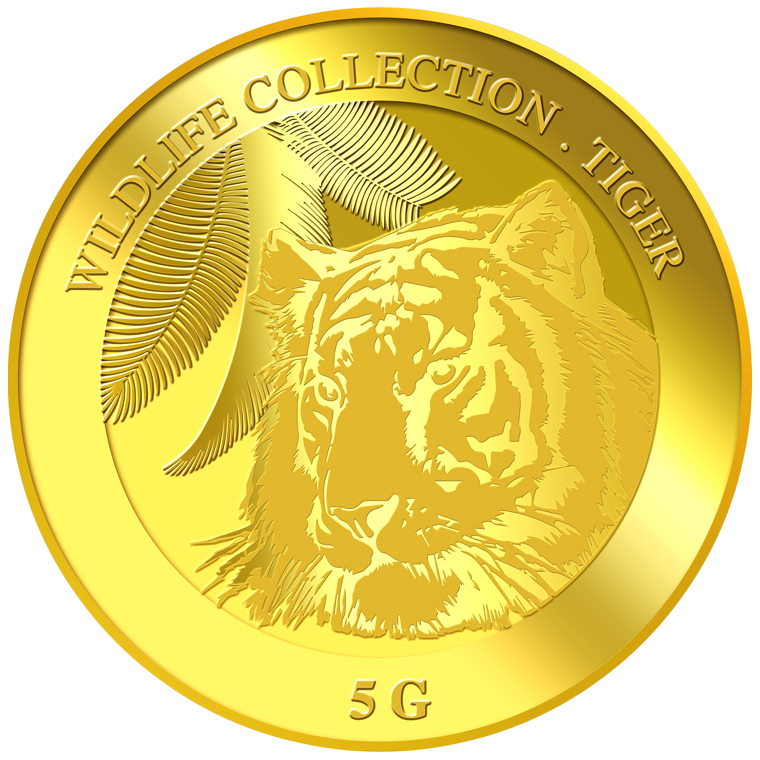 5g Tiger Gold Medallion