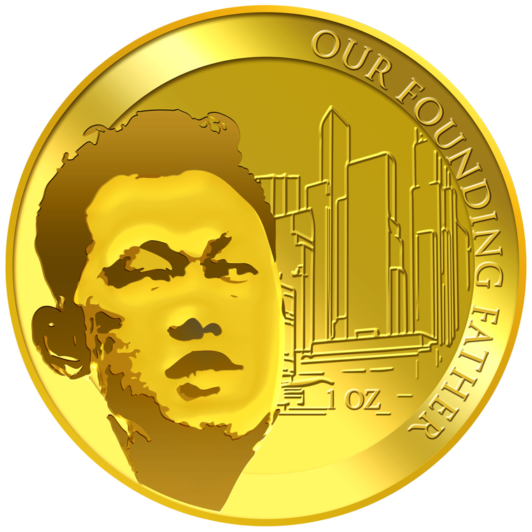 1oz SG Founding Father (Series 1) (1965 SG Independent Day) Gold Coin (YEAR 2016)