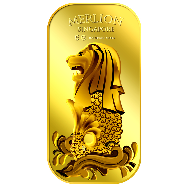 5g SG Merlion Sea Gold Bar