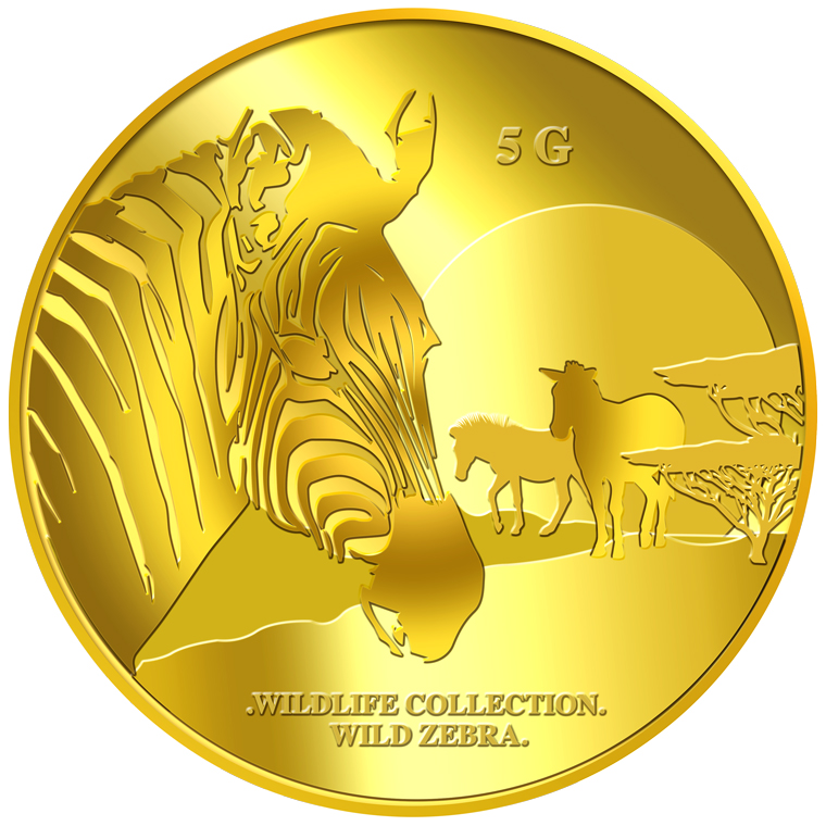 5g Zebra Gold Medallion