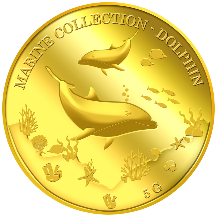 5g Dolphin Gold Medallion