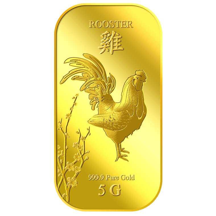 5g Golden Rooster Gold Bar