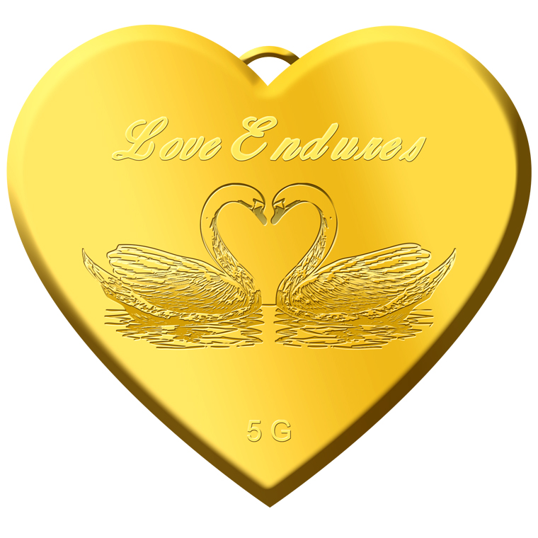 5g Love Endures Gold Pendant