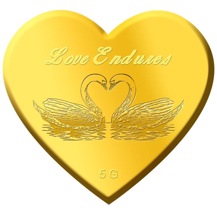 5g Love Endures Gold Medallion