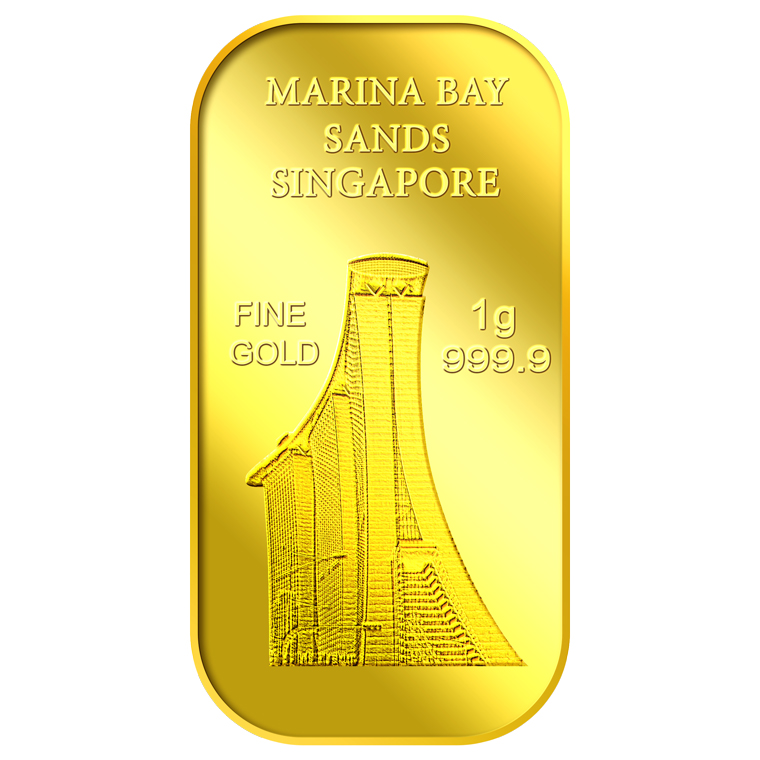1g SG Marina Bay Sands Gold Bar