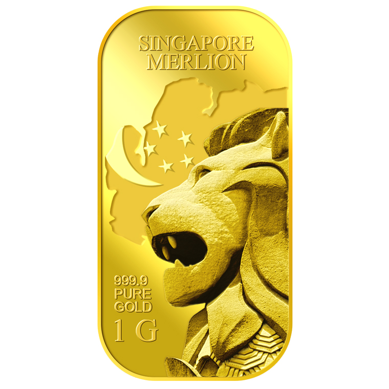 1g SG Merlion Map Gold Bar  Buy Gold Silver in Singapore  Buy