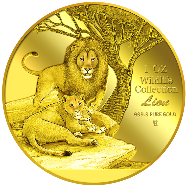 1oz Lion Gold Medallion