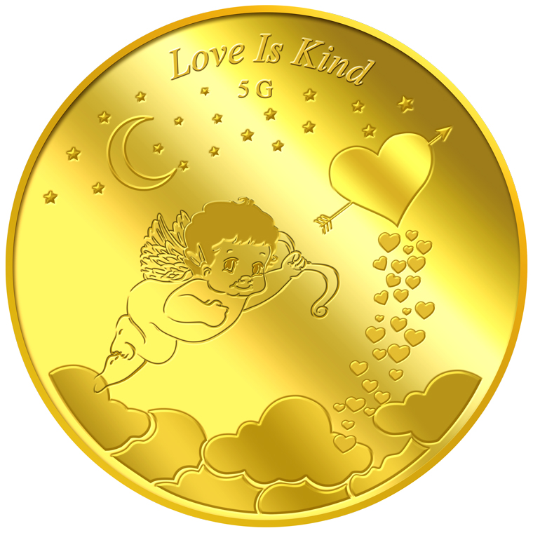 5g Love is Kind Gold Medallion
