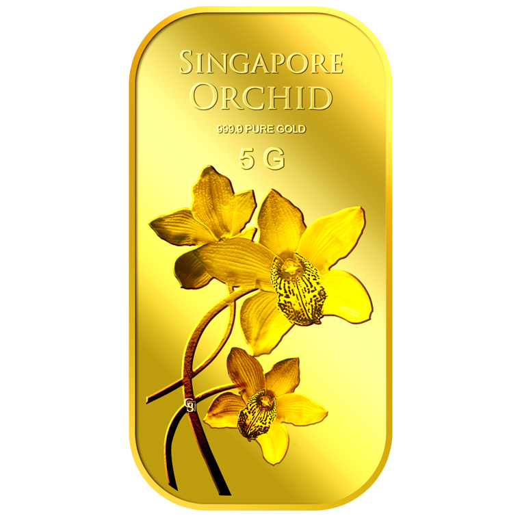 5g SG Orchid (Series 2) Gold Bar