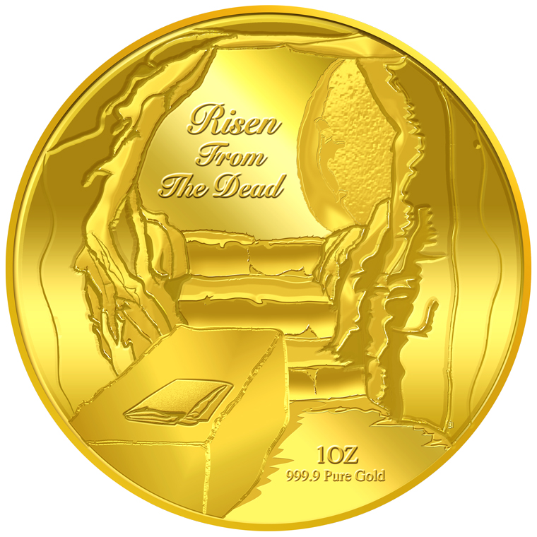 1oz Risen From The Dead Gold Medallion (10TH LAUNCH)