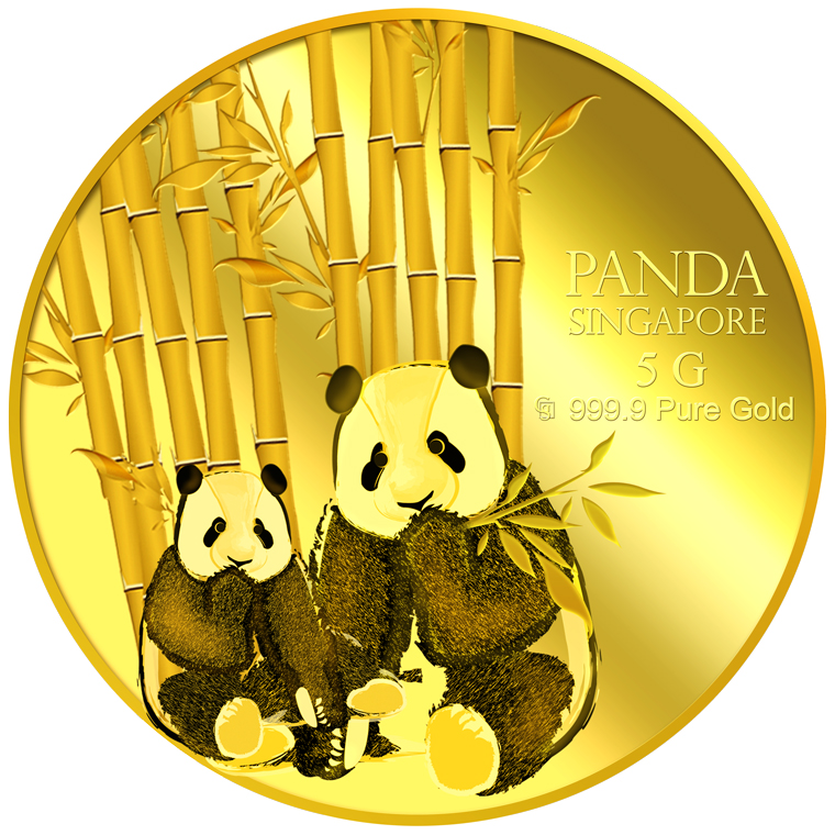 5g Sg Giant Panda Series 1 Gold Coin Buy Gold Silver