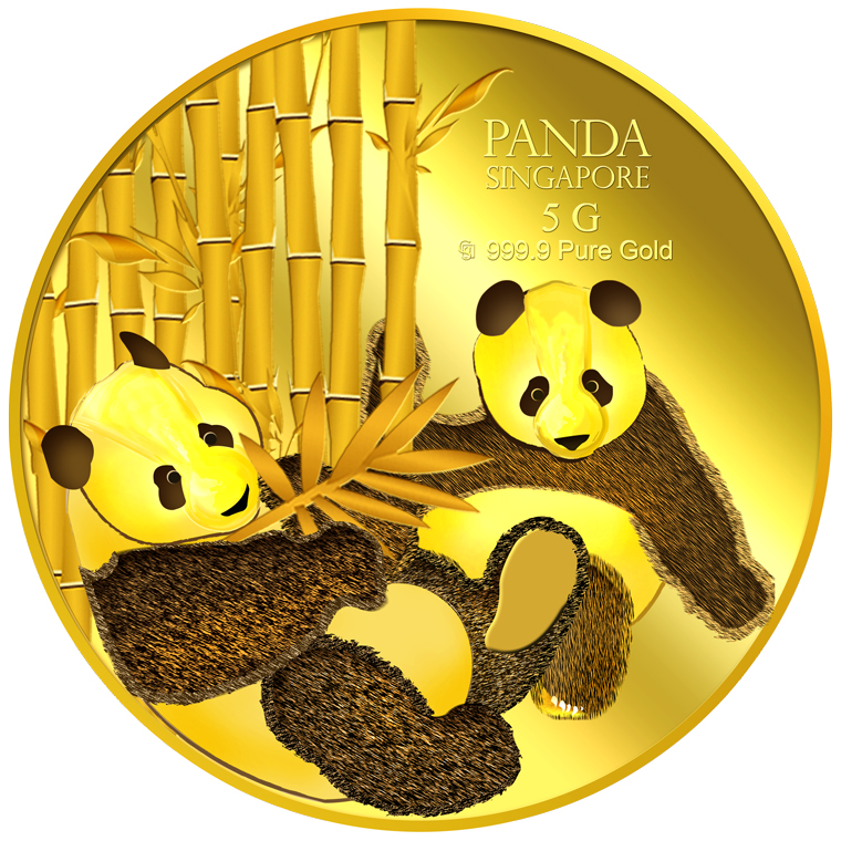 5g SG Giant Panda (Series 2) Gold Coin
