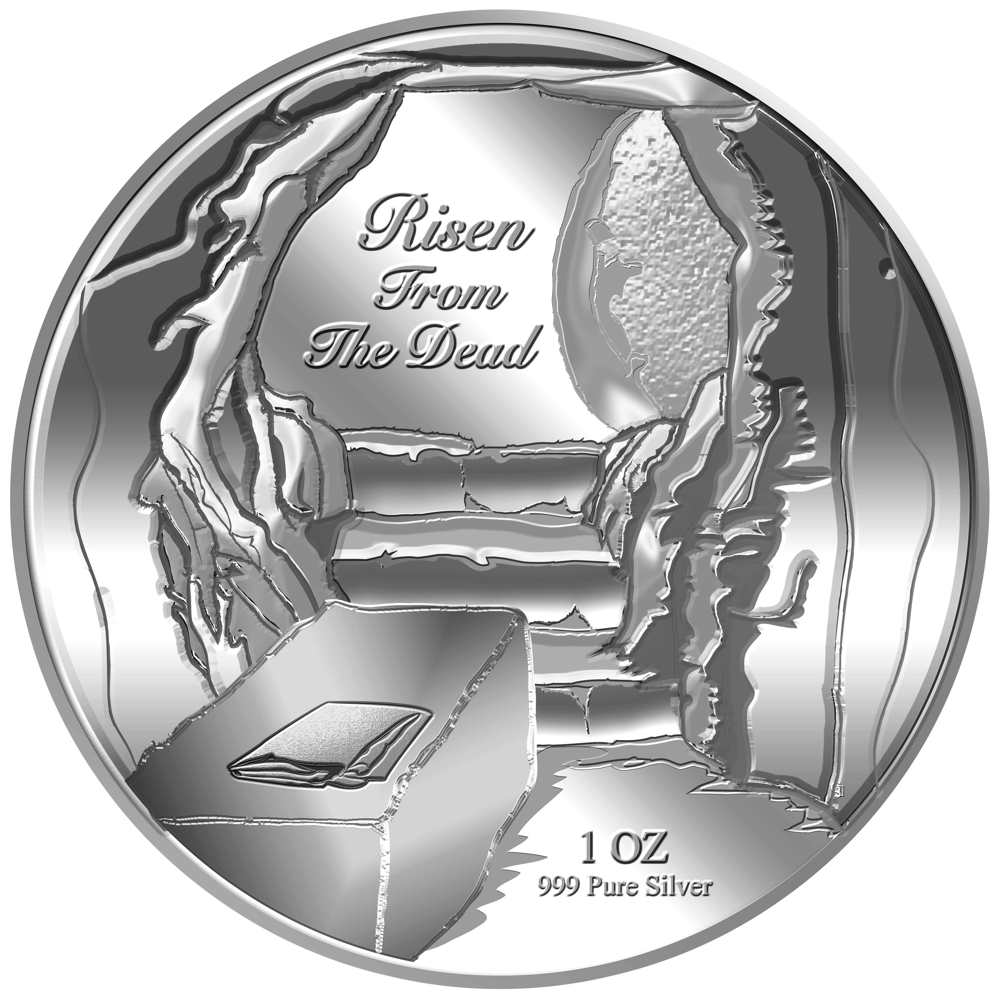 1oz Risen From The Dead Silver Medallion (10TH LAUNCH)