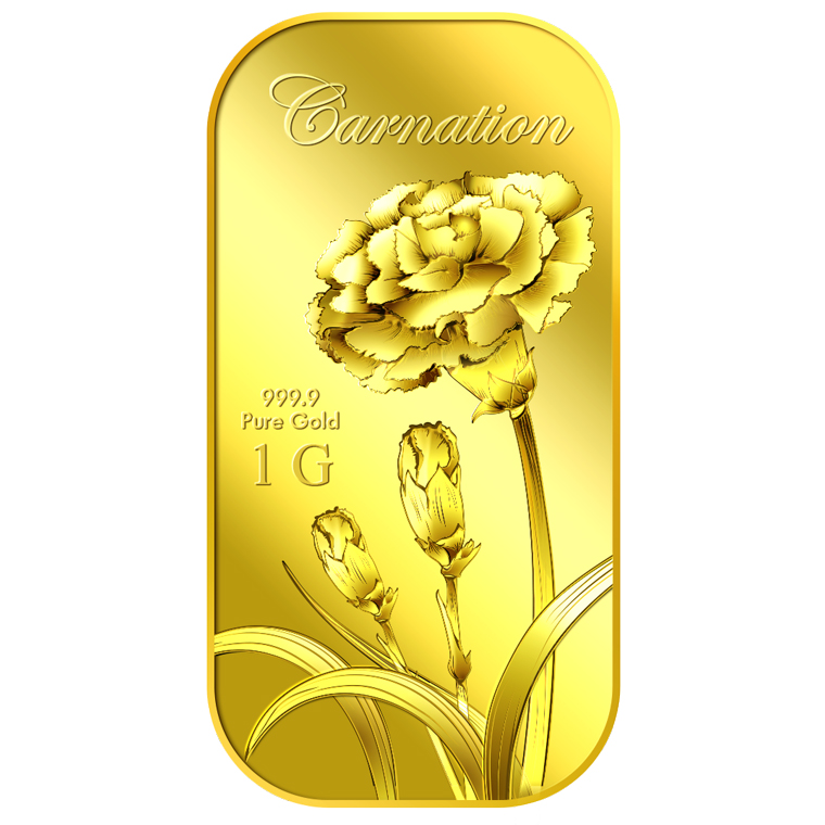1g Carnation Gold Bar