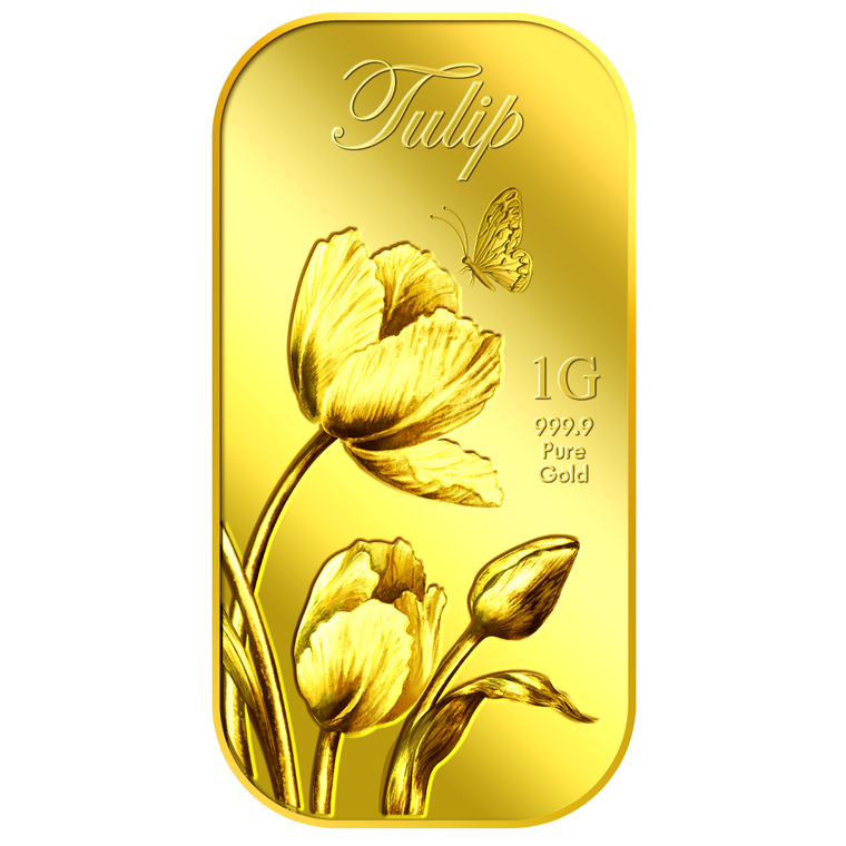 1g Tulip Gold Bar