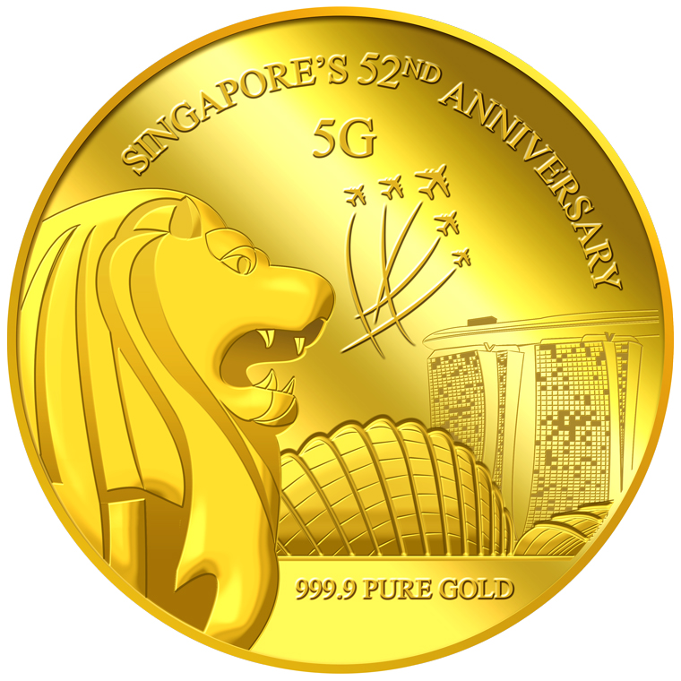 5g SG 52nd Anniversary Gold Medallion (YEAR 2017)