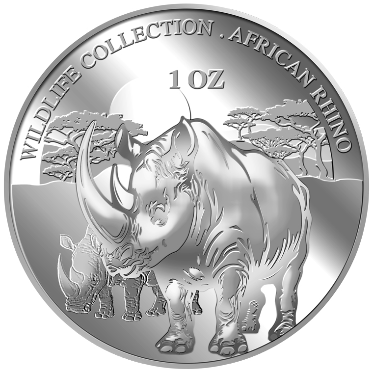 1oz Rhino Silver Medallion