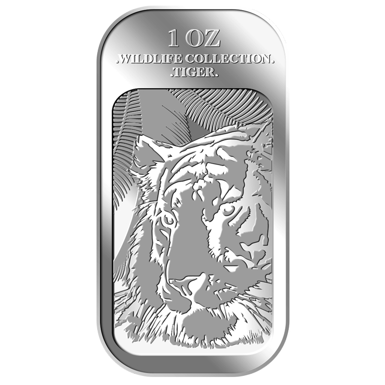 1oz Tiger Silver Bar