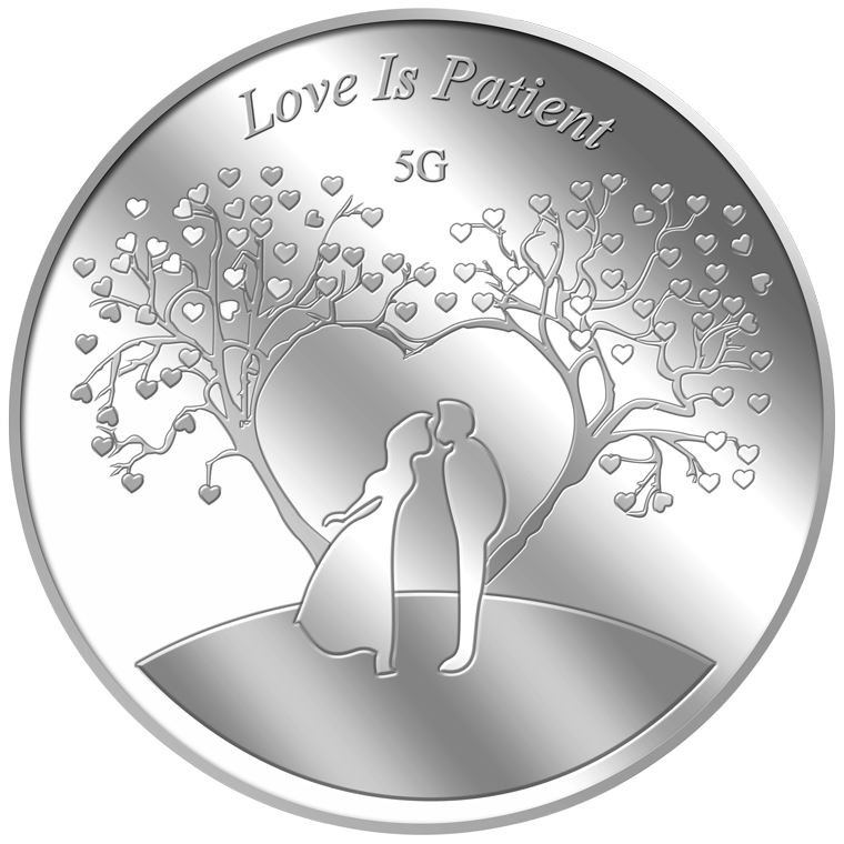 5g Love is Patient Silver Medallion