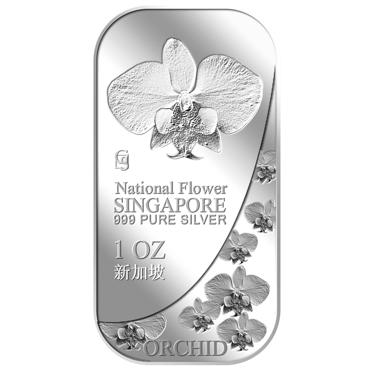 1oz SG National Flower (Series 2) Silver Bar