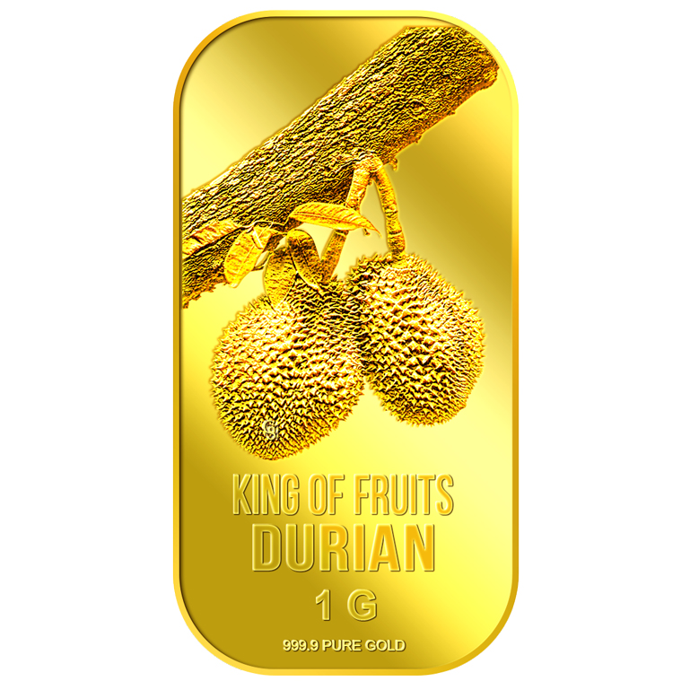 1g King of Fruits Durian Gold Bar