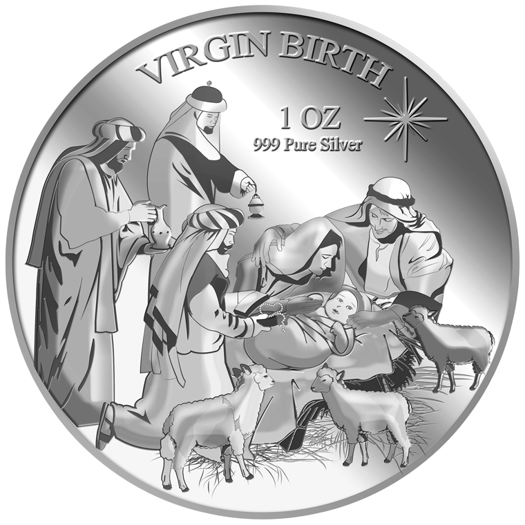 1oz Virgin Birth Silver Medallion (11TH LAUNCH)
