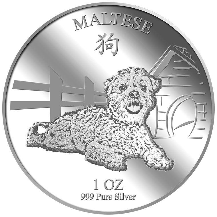 1oz Maltese Silver Medallion