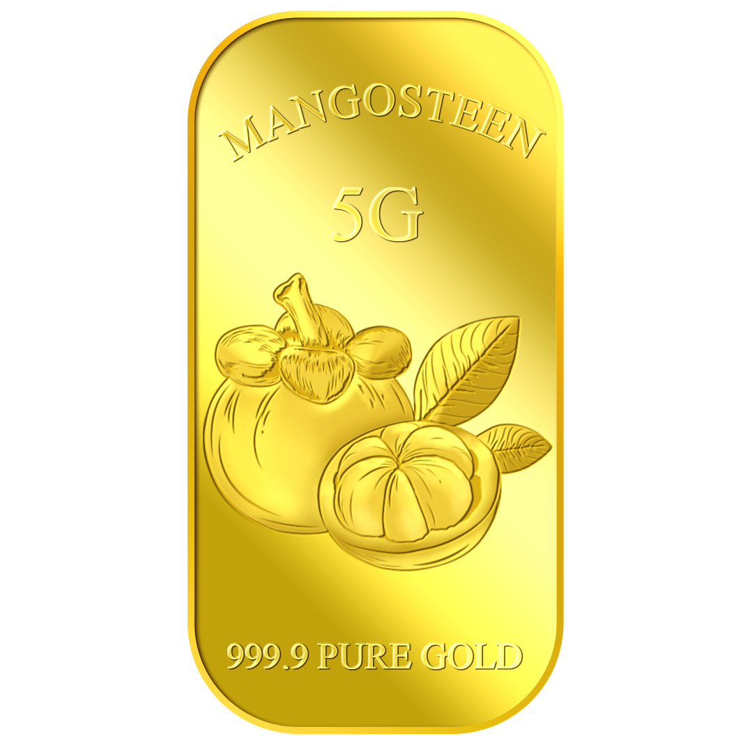 5g Queen of Fruits Mangosteen Gold Bar