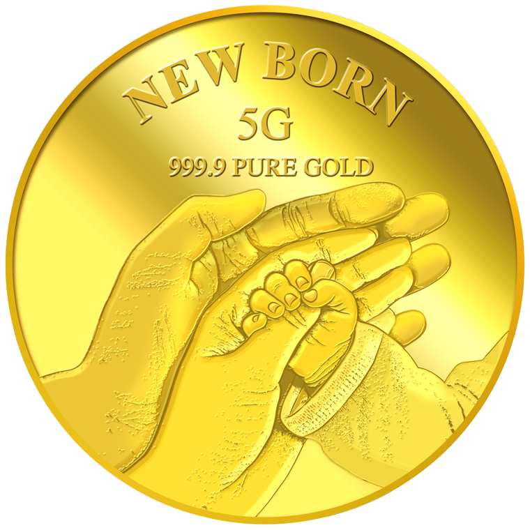 5g New Born Gold Medallion