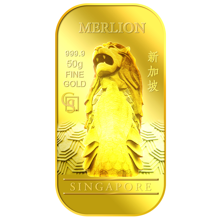 50g SG Merlion Classic Gold Bar