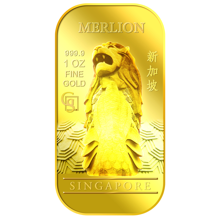 1oz SG Merlion Classic Gold Bar