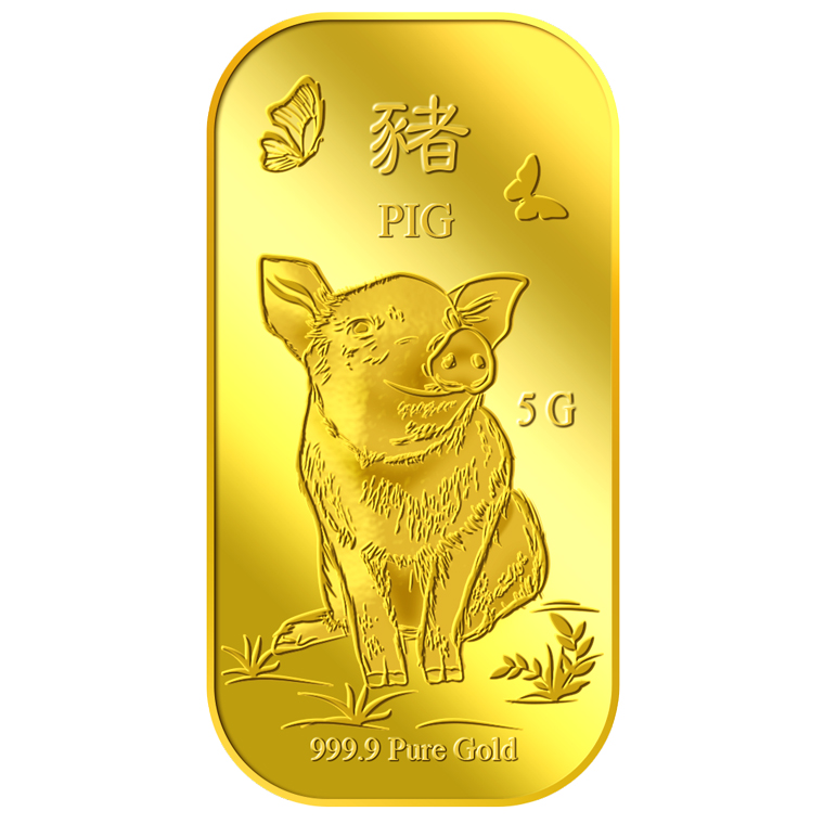 5g Golden Pig Gold Bar