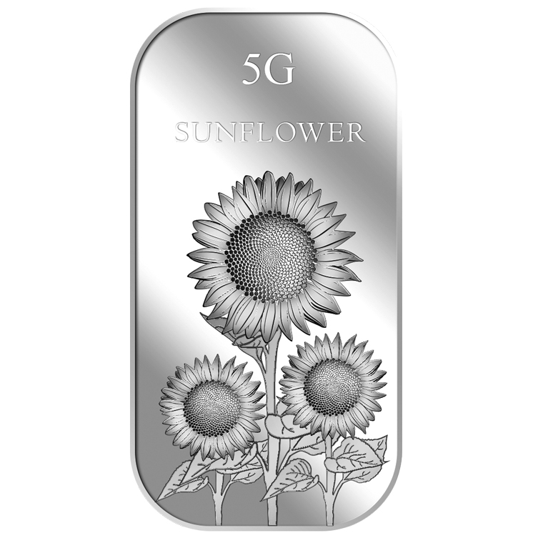 5g Sunflower Silver Bar