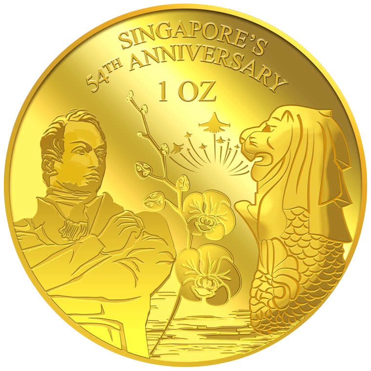 1oz SG 54th Anniversary Gold Medallion (YEAR 2019)