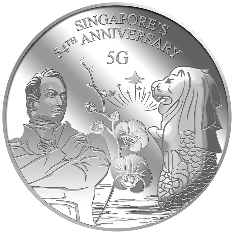 5g SG 54th Anniversary Silver Medallion (YEAR 2019)