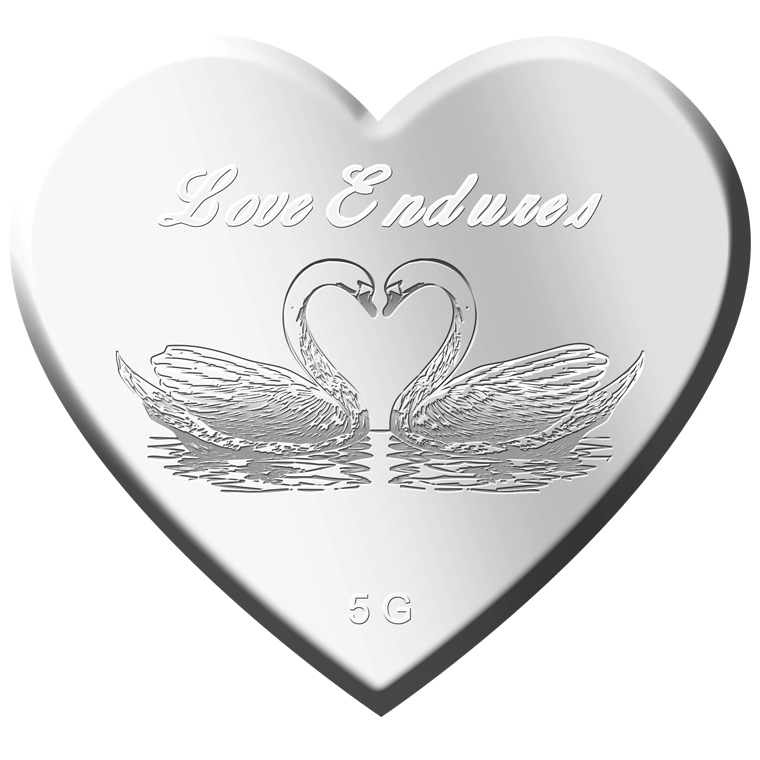 5g Love Endures Silver Medallion