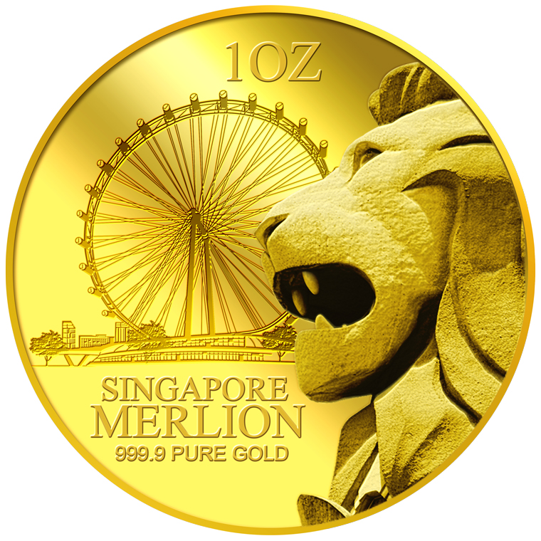 1OZ SG MERLION FLYER GOLD MEDALLION (COMING SOON)
