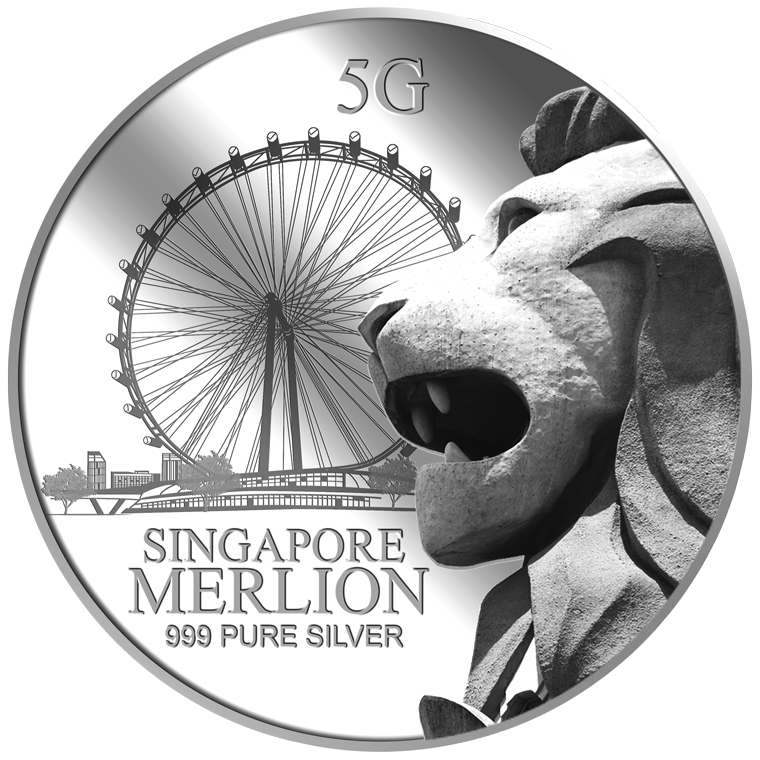 5G SG MERLION FLYER SILVER MEDALLION (COMING SOON)