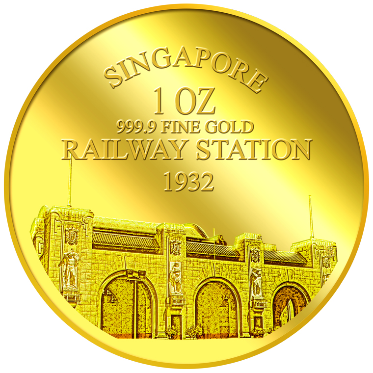 1oz SG Tanjong Pagar Railway Station Gold Medallion