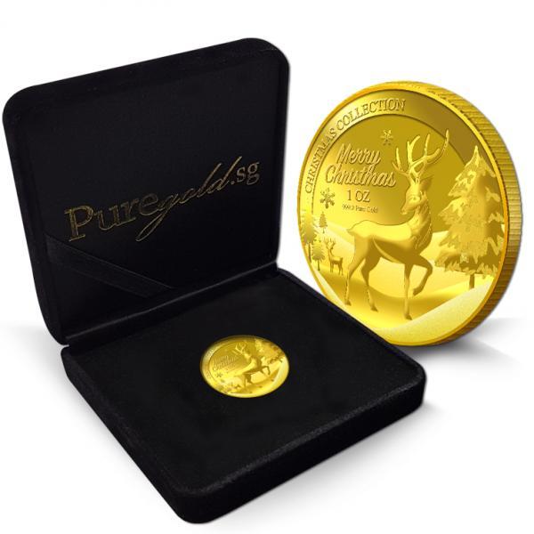 1oz 2016 christmas reindeer gold coin