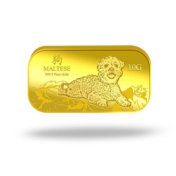 10g maltese gold bar